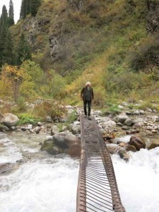 Mark crosses the stream